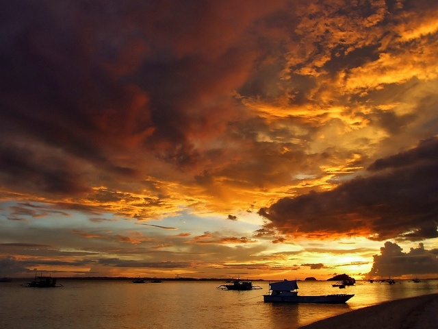 Golden Skies above Siquijor, The Philippines