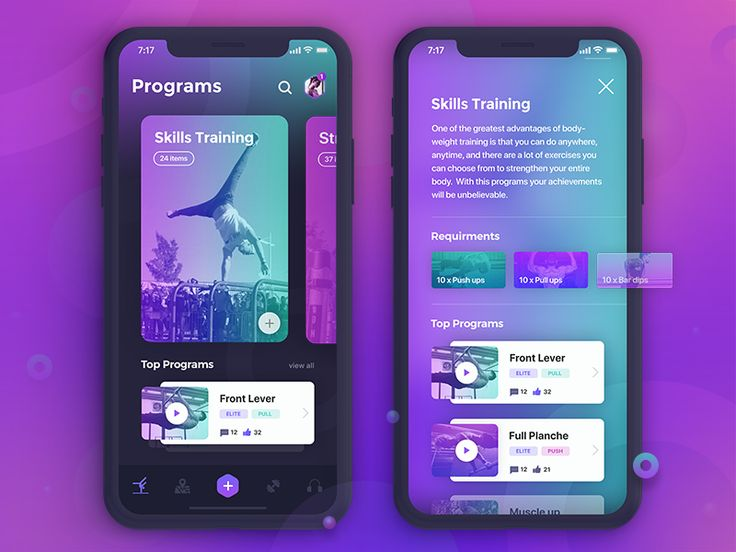 Hi Dribbblers!! Here is another update of the gym/fitness app I'm currently working on. Please find attached the full size views. Thanks and have a great day!