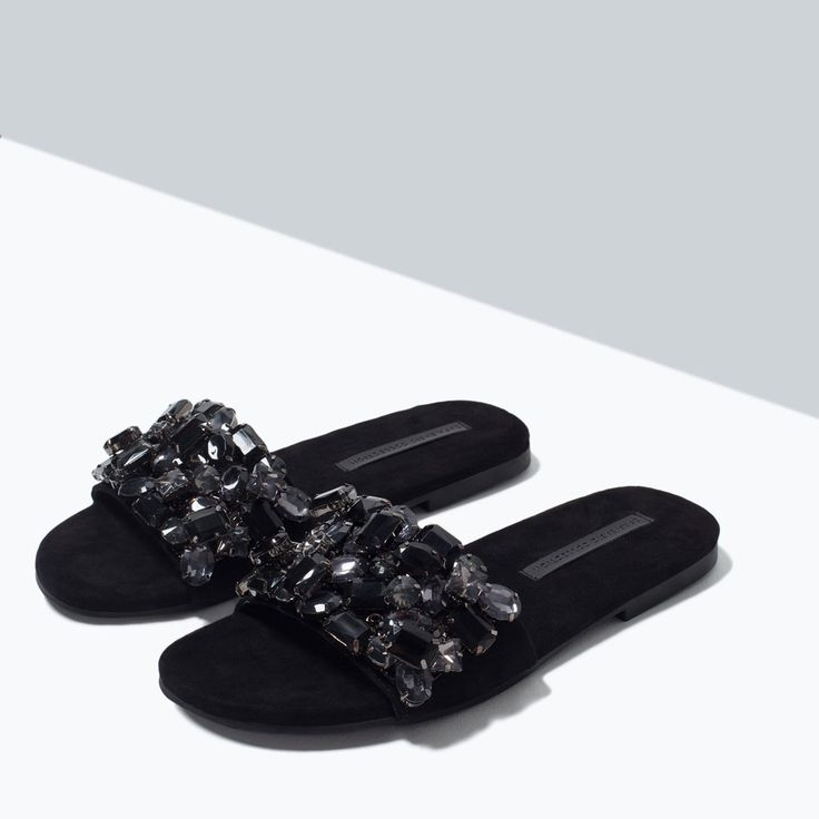 JEWEL SLIP-ON SANDALS from Zara