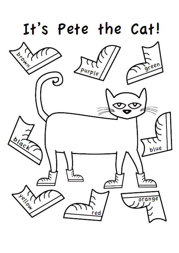 Pete The Cat Shoes Coloring Page Youngandtae Com Pete The Cat Shoes Pete The Cat Pete The Cats
