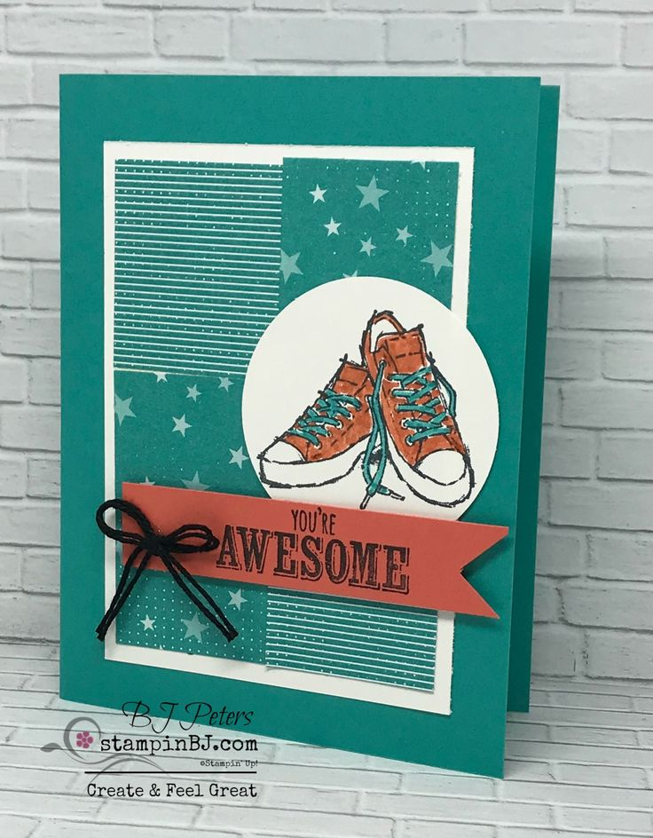 Epic Celebrations!   Perfect birthday card for teenagers!  #stampinBJ.com
