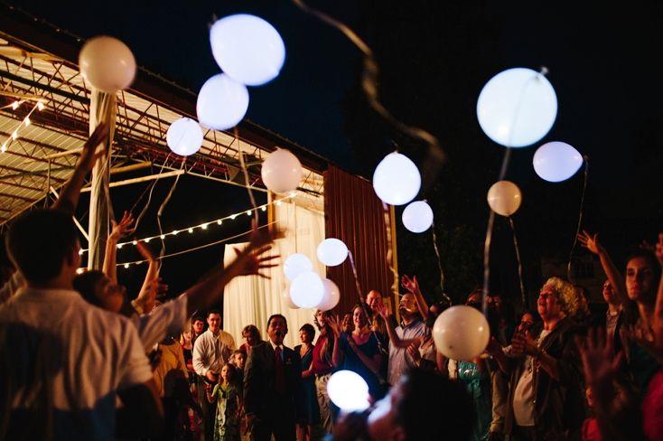 Nafukovací balónky | LED nafukovací balonky BÍLÉ (WHITE) sada 5 ks…