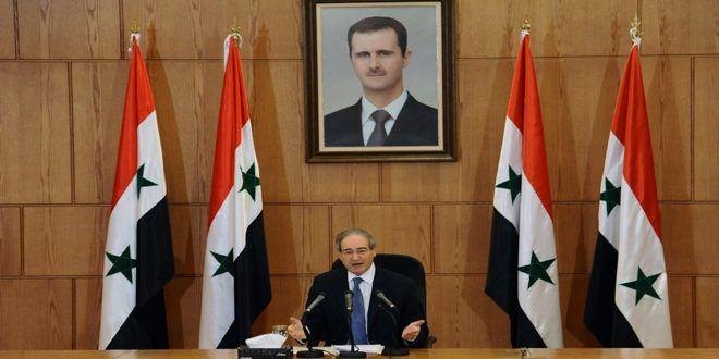 Syria reiterates it fully dismantled chemical weapons BlackHouse, Jul. 04 – Syria has reaffirmed that the accusations, claims and lies about its alleged use of chemical weapons aim at defaming the country internationally and serve the Zionist entity.  Syria Deputy Foreign Minister Fayssal Mikdad made the remarks during a press conference in... http://blackhouse.info/syria-reiterates-it-fully-dismantled-chemical-weapons/