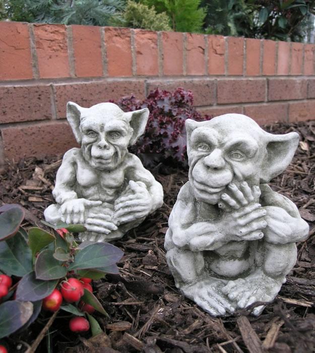 Sprite Gargoyles Stone Garden Statues
