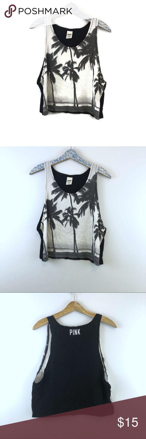 Débardeur de plage rose noir blanc Palm Beach taille Med Jaune Palmier de …  – My Posh Closet