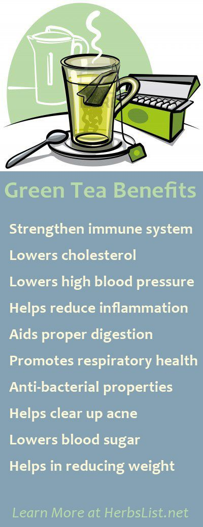 many health benefits of drinking Green Tea - add lemon & your body can then absorb 80% of the antioxidants! my dad is 87 & still drinks/smokes but he drinks green tea every day w/breakfast & not because he's trying to be healthy. amazing.