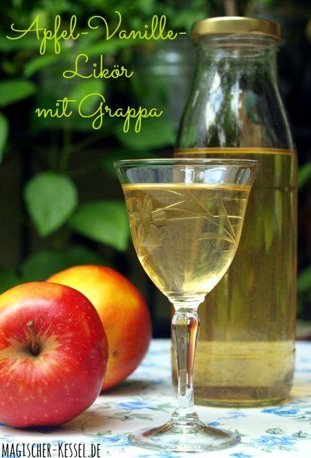 Resteverwertung der alkoholischen Art: Angesetzer Apfellikör mit Grappa und Vanille
