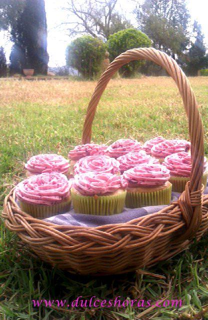 Cupcakes de Arándanos Veganos!! | DulcesHoras.com