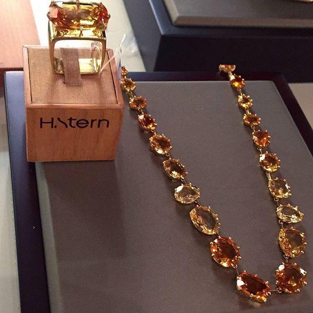 Incredible #hsternjewelry #necklace #ring #jewellery #jewelry #joaillerie #bijoux #citrine