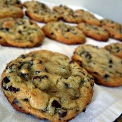 Chewy Chocolate Chip Cookies - Classic, perfect, delicious chocolate chip cookies-made with healthy coconut oil and no butter! MY NEW FAVORITE RECIPE