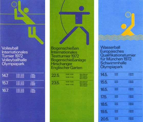 THE classic isotypes and good use of colour link-up. Improved upon in the LA Olympics which used even brighter colours (that's me though)...