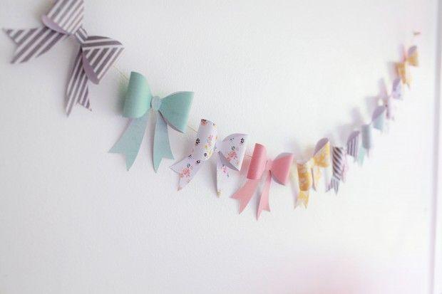 DIY: Bow Garland | Dear Lizzy | Bloglovin'