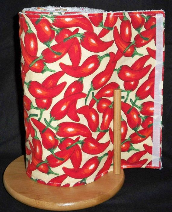 Red Chili Peppers theme UnPaper Towels 10 by TheBargainHound, $49.99