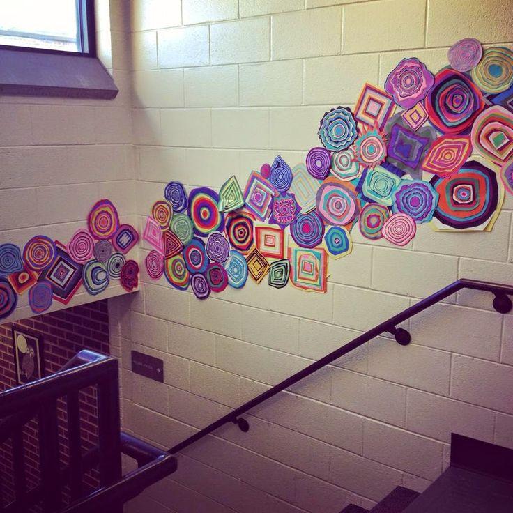 3rd and 4th Grade Jen Stark Contemporary Paper Art