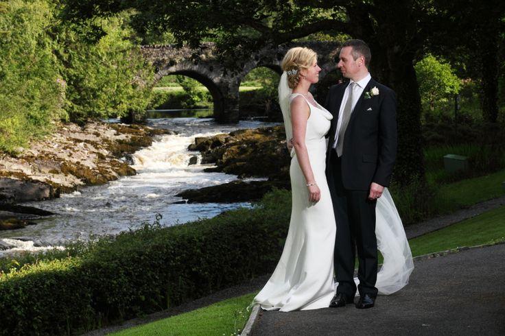 Gorgeous couple photo next to the river