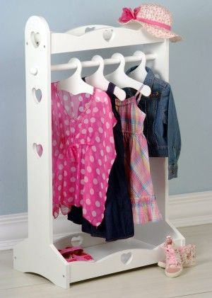 heart dress up rail white kids childrens clothes rail. Black Bedroom Furniture Sets. Home Design Ideas