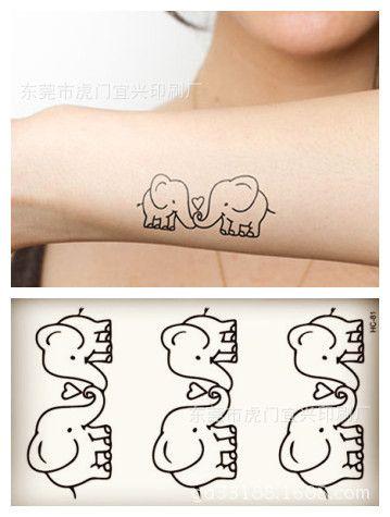 winter strand kleine tijdelijke tattoo stickers wateproof vrouwen mannen cartoon paar olifant sex body art producten