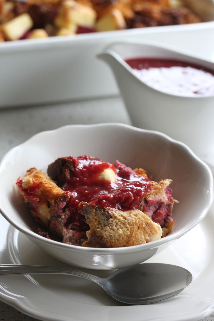 Overnight Raspberry and Cream Cheese French Toast  #WhatsForBreakfast? ebook available at http://tenina.com/store