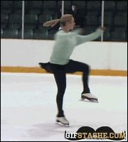 ice skating fail into ice gif | Figure Skating Fail