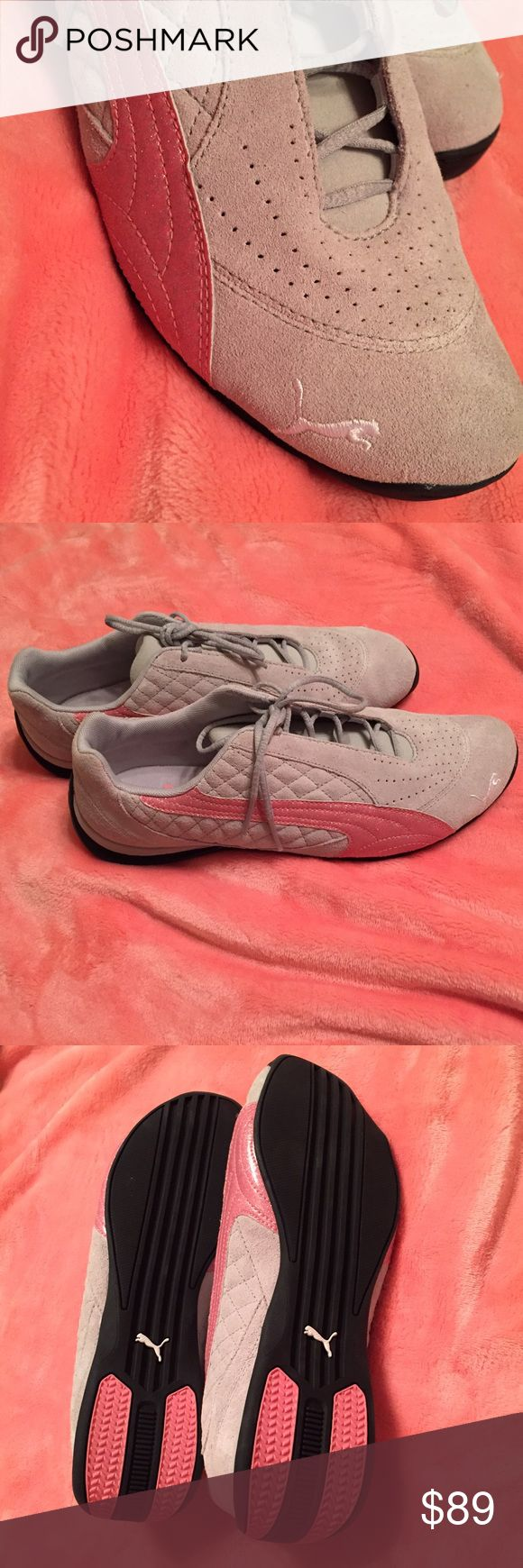 Brand New - Puma Ladies Shoes Authentic- These tennis shoes are brand new., still in original box. Silver and Pink color Puma Shoes Athletic Shoes