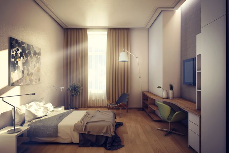 Hotel Room Interior hotel room - interior design, 3d modelling, rendering and post