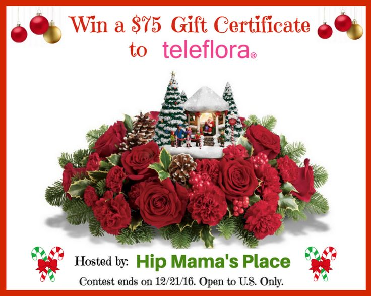 Win a $75 Gift Certificate to Teleflora + FREE Shipping on your order!