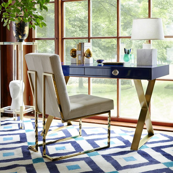 dining chair outfit your office with the jonathan adler channing desk