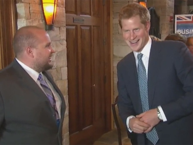 Prince Harry at the Sanctuary Golf Course in Douglas County on Friday (credit: CBS)