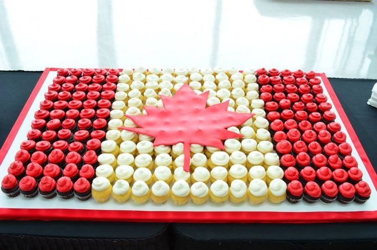 Great Canada Day idea; Canadian Cupcakes