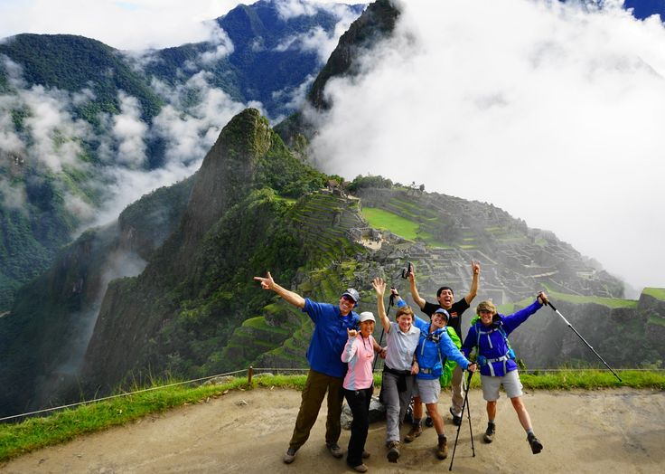 We love this one! It was sent to us by Dianne Czarnecki from her 'Jaguar' trip in Peru, in April. This is her hiking team celebrating at Machu Picchu.#adventuretravel#activeadventures#peru#hiking#machupicchu#photography