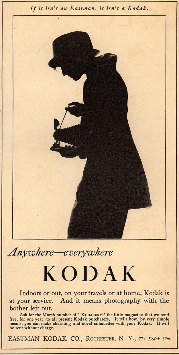 "1920 ""Woman's Home Companion"" ad. Anywhere—everywhere Kodak."