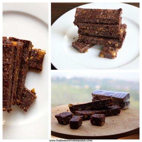 Domácí čokoládové tyčinky (raw)