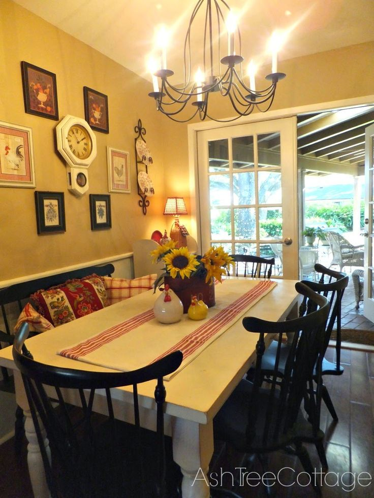 Cottage Style Dining Room Part - 47: Ash Tree Cottage: Fluffing In The Breakfast Room