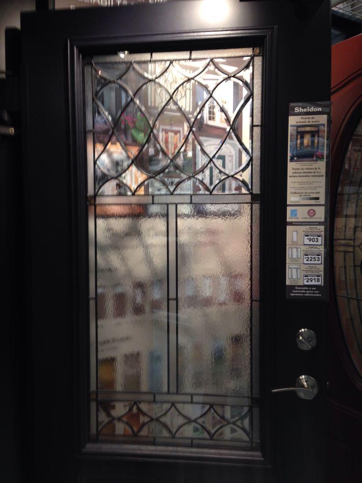Lowes Exterior Doors: Front Door. Called Sheldon. Color Eclipse. Lowes.