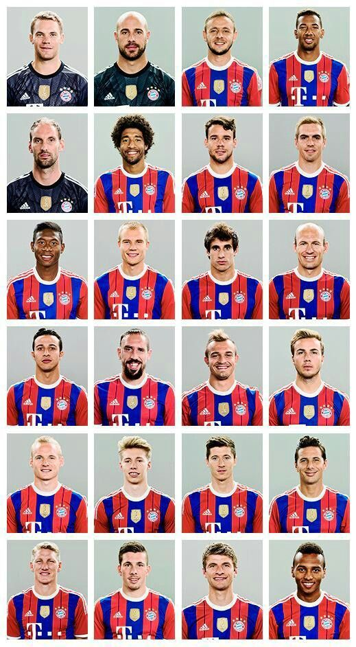 FC Bayern Munich 2014/15 squad, they are truly one of the best clubs out there