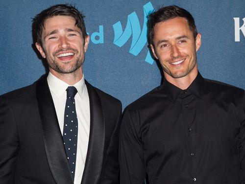 Stepping Out. Can we talk about how cute Matt Dallas and Blue Hamilton look together?