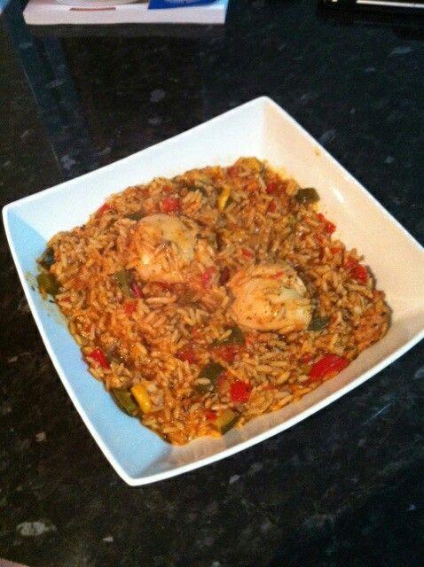 Free food February. Chicken Jambalya by Liz.