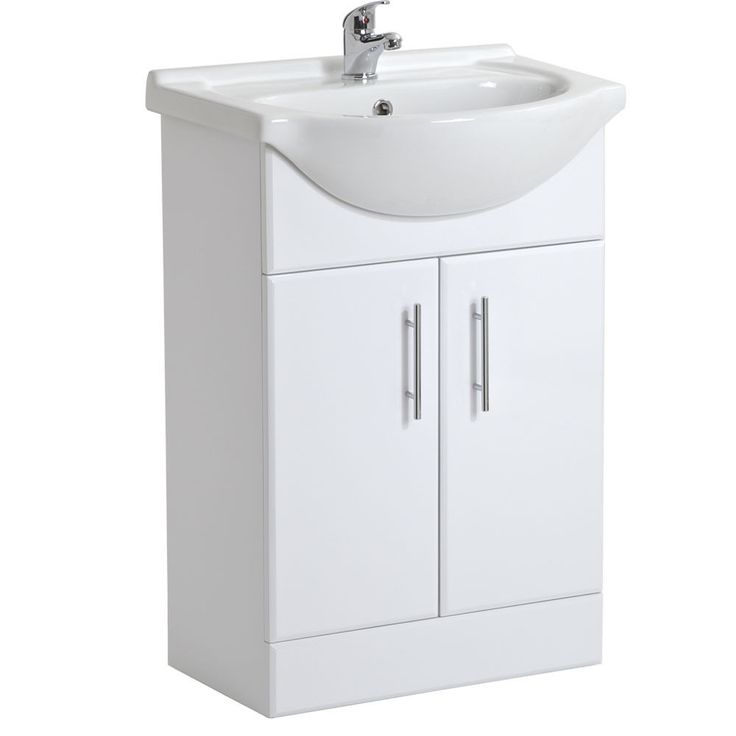 Details About White Gloss Bathroom Vanity Units Basin Sink 550 Cloakroom Cabinet Storage Unit