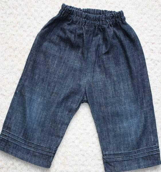 Babywear used ハンドメイド デニムハーフパンツ80リバティ柄 インテリア 雑貨 Handmade ¥100yen 〆05月31日