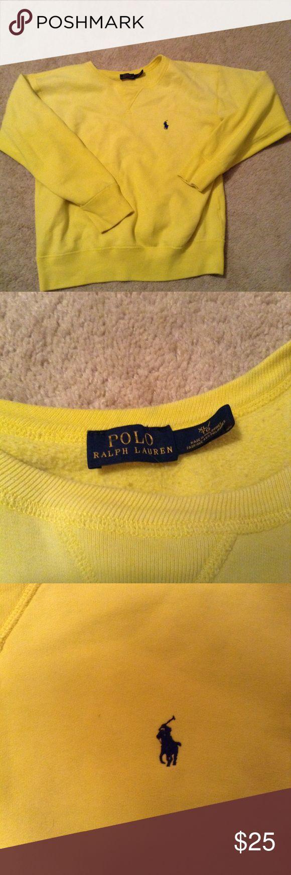 Polo Ralph Lauren Sweatshirt Crewneck style sweatshirt. Soft brushed in size women's xl. Bright yellow Polo by Ralph Lauren Tops Sweatshirts & Hoodies
