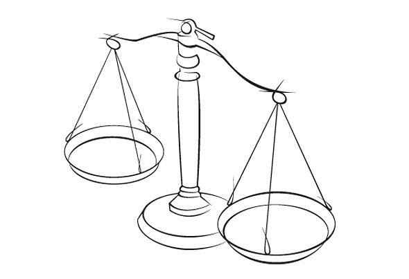 рисунки весов карандашом внезапной