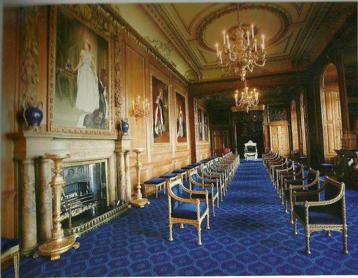 garter throne room windsor castle windsor england new
