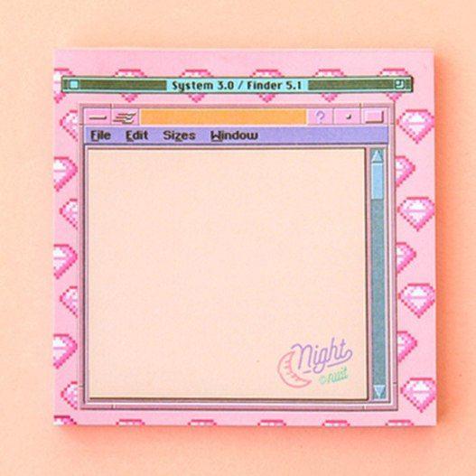 Kawaii Aesthetic Retro Computer Memo Pad (Buy One & Get One