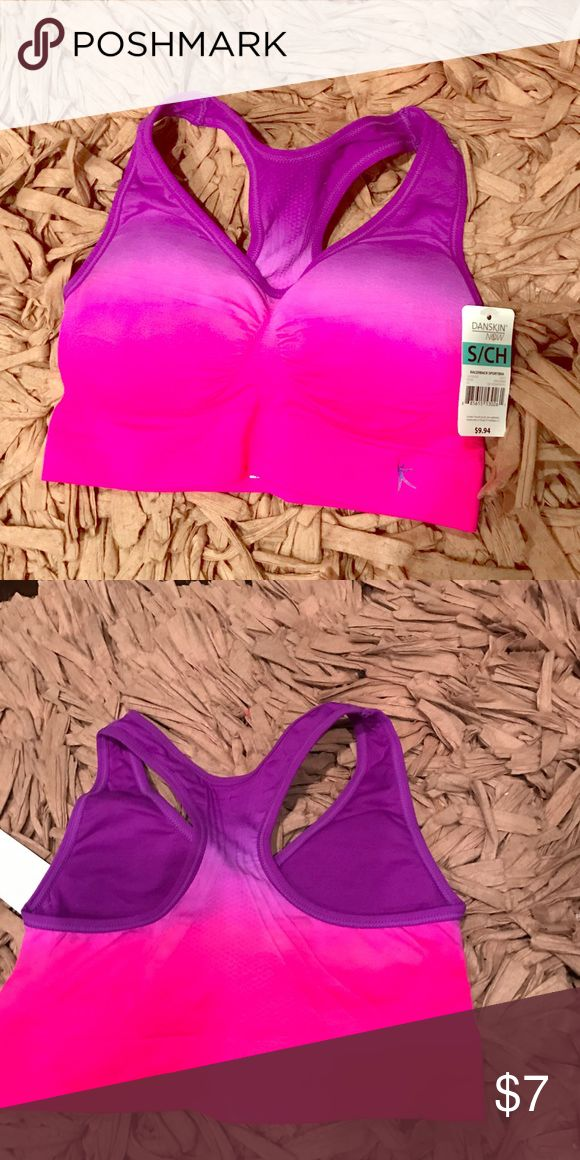 Danskin sports bra Pink/purple ombré Racerback sports bra. NWT. Perfect for small/petite.                               ✅NO TRADES🚫NO OFFLINE DEALS ✅OFFERS ENCOURAGED  ✅BUNDLE TO SAVE MORE ✅LISTED ON MULTIPLE SITES ✅ASK ANY QUESTIONS  ✅SMOKE/PET FREE   ♻️We recycle (shipping boxes,paper products) Danskin Now Intimates & Sleepwear Bras