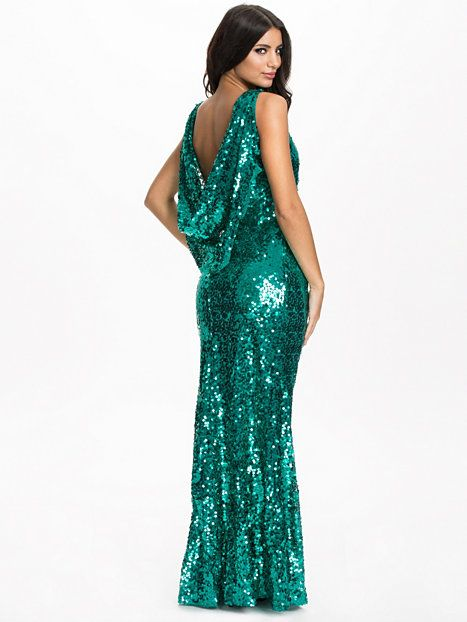 Sequin Drape Maxi Dress NLY Eve fra Nelly. Om denne nettbutikken: http://nettbutikknytt.no/nelly-com/