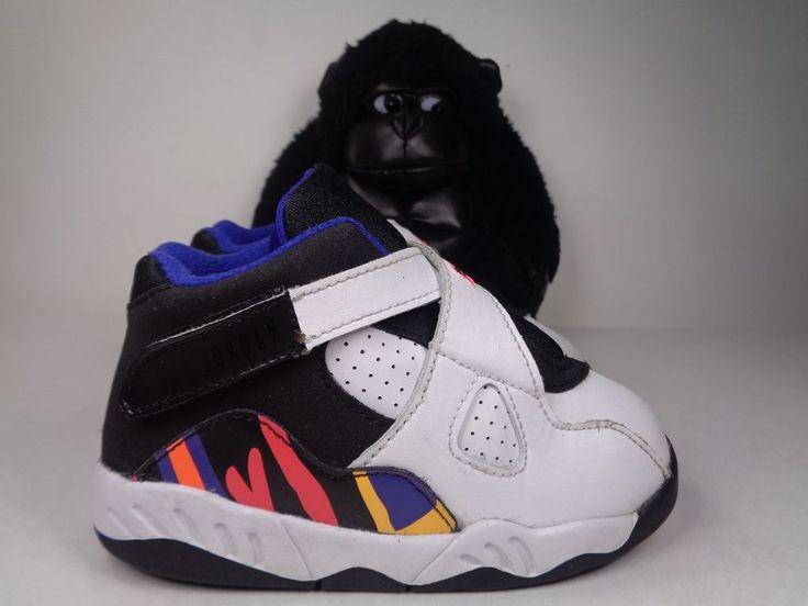 e44791ae2535 ... Babies Nike Air Jordan 8 Retro Basketball Shoes Toddlers Size 8C US  305360-142 ...