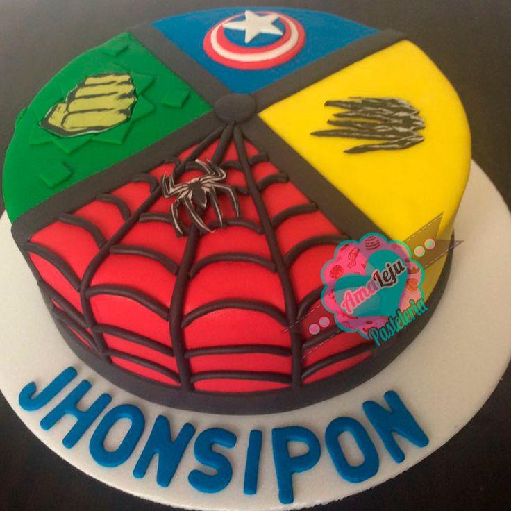 Torta Avengers Realiza tu pedido por; WhatsApp: 3058556189, fijo 8374484  correo info@amaleju.com.co Síguenos en Twitter: @amaleju / Instagram: AmaLeju