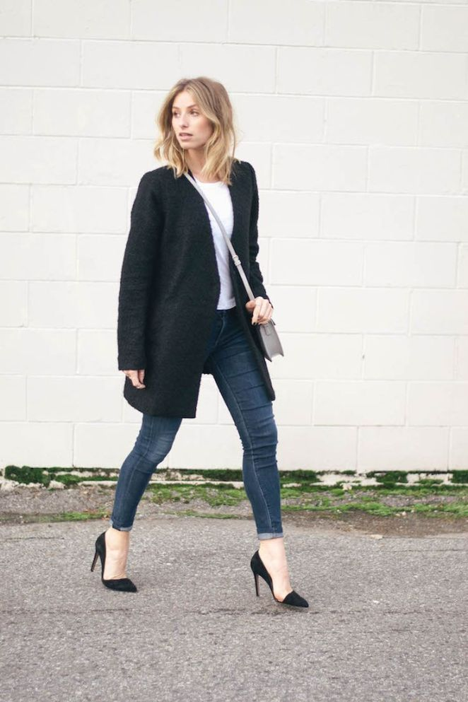 Inspiration look Day to night : 2014 coat tee bag (c/o): Forever 21   jeans: Citizens of Humanity via Aritzia