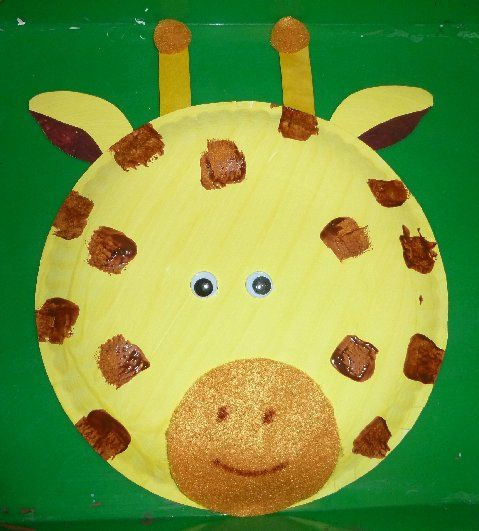 Paper Plate Giraffe & 57 best Rumble in the Jungle images on Pinterest | Day care Crafts ...