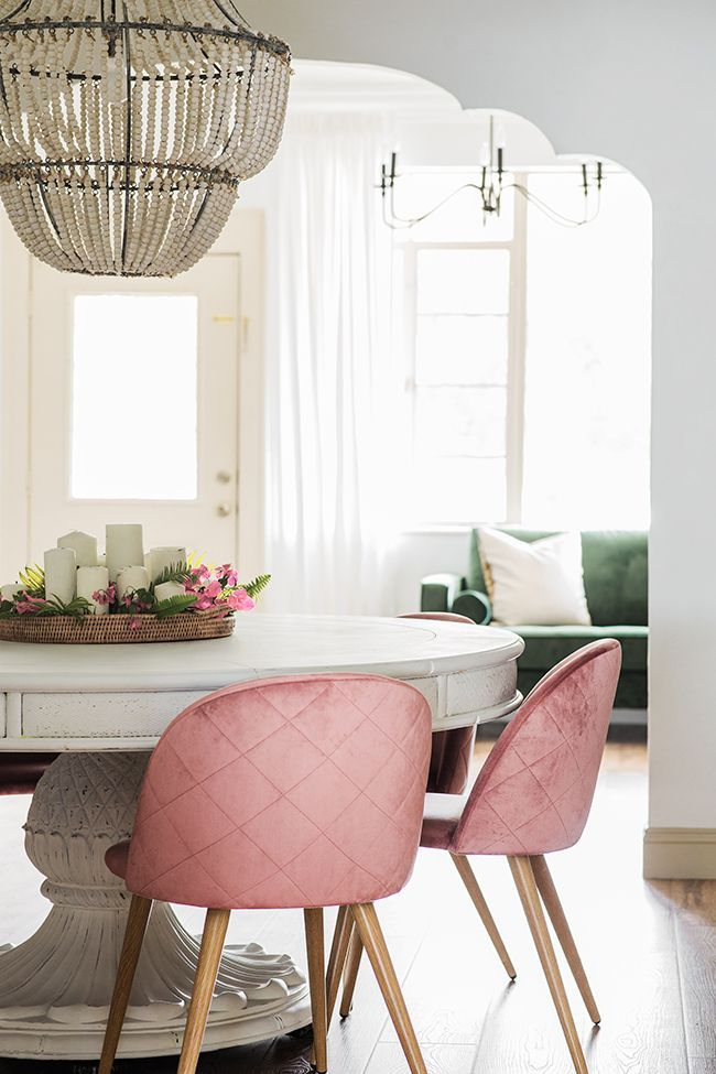 Our Job Is To Inspire You And Today We Re Ready To Show You Some Of The Best Dining Chairs We Can Dining Room Chairs Modern Pink Dining Rooms Grey Dining Room